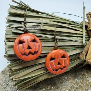 Pumpkin Earrings Halloween Fall Jewelry Costume